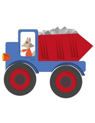 Stickers Voiture & Transports,Sticker enfant: Camion Bleu