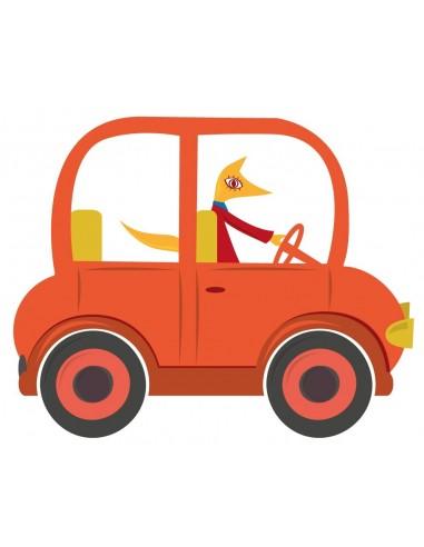 Stickers Voiture & Transports,Sticker enfant: voiture orange