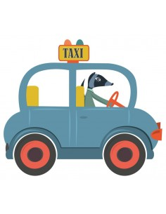 Stickers Voiture & Transports,Sticker enfant: Taxi