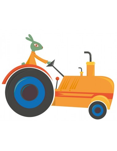 Stickers Voiture & Transports,Sticker enfant: Tracteur orange