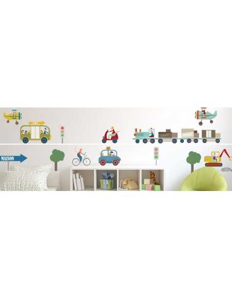 Stickers Voiture & Transports,Sticker enfant: Tractopelle