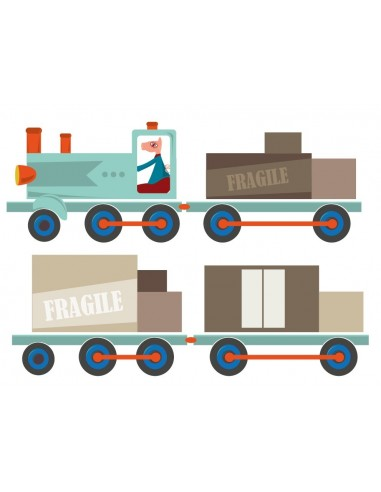 Stickers Voiture & Transports,Sticker enfant: Train