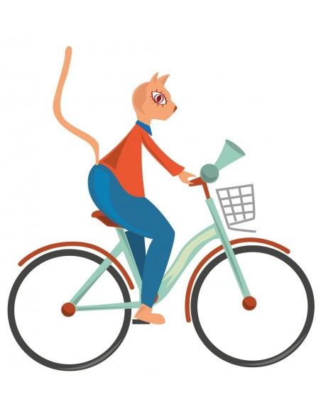 Stickers Voiture & Transports,Sticker enfant: Vélo vert