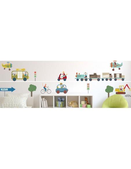 Stickers Voiture & Transports,Sticker enfant: frise train