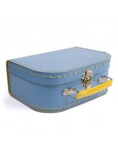 Boîtes & Paniers de rangement,Valisette Bleue en Carton