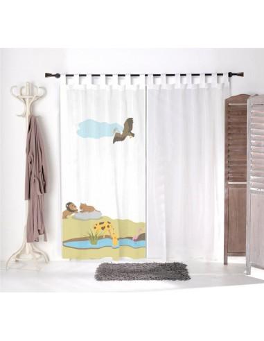 Voilage chambre bébé,Voilage Enfant: Paysage de la savane