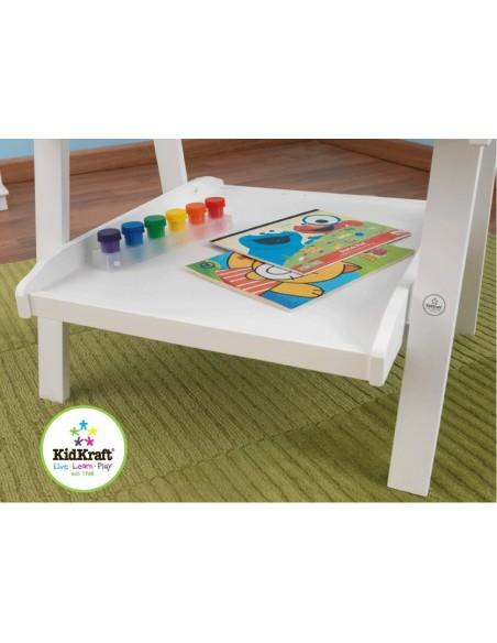 Table de jeux d'activités,Chevalet en bois blanc