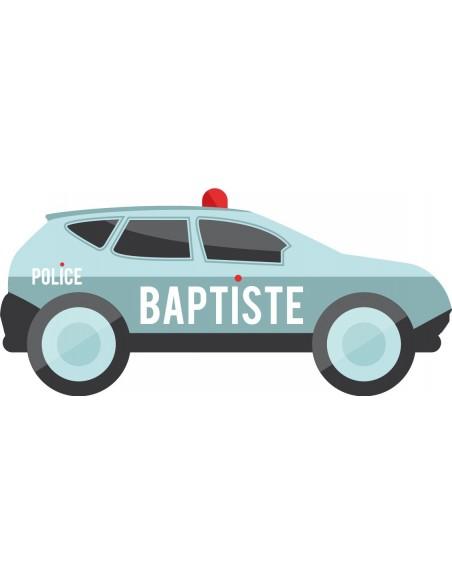 Stickers Police,Sticker Prénom: Voiture Police personnalisée