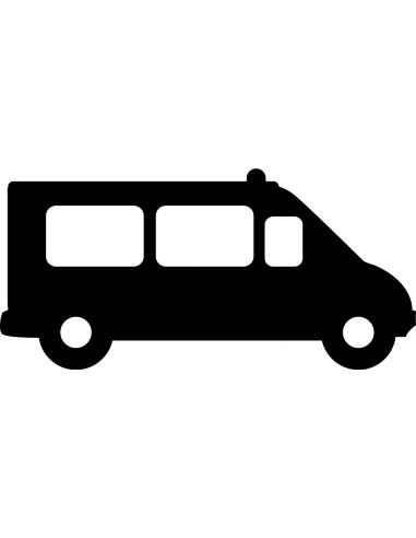 Stickers Police,Stickers ardoise: camion de police