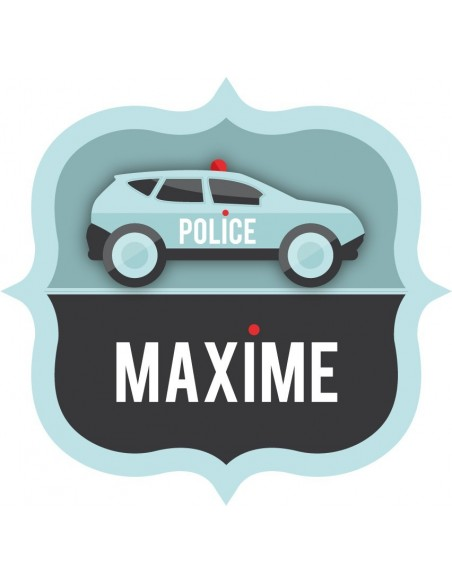 Stickers Police,Sticker Prénom : Voiture écusson Police