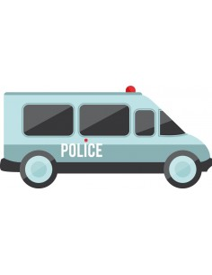 Stickers Police,Stickers enfant: Camion Police
