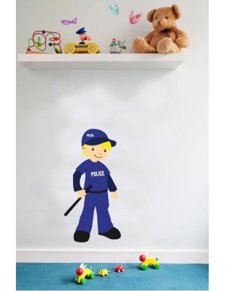 Stickers Police,Sticker enfant: Policier