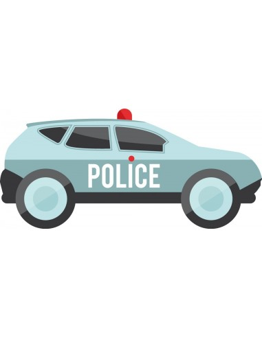 Stickers Police,Stickers enfant: voiture de police