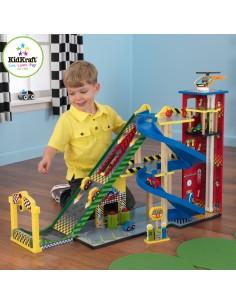 Jouet en bois,Garage de voitures enfant: Racing