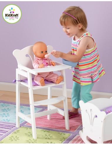 Jouet en bois,Chaise haute poupée