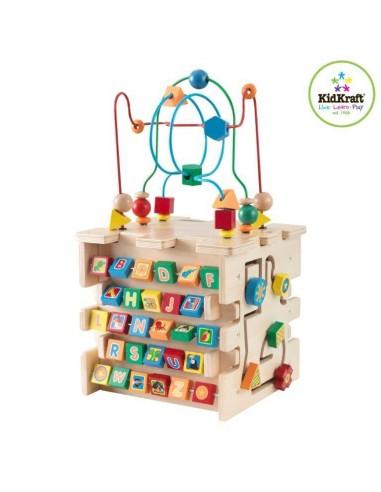 Jouet en bois,Cube d'activité Bébé deluxe