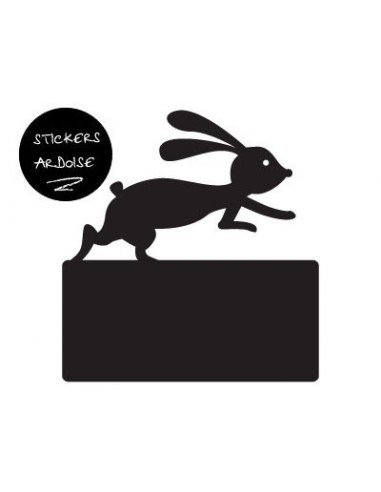 Sticker Ardoise,Sticker ardoise: Lapin