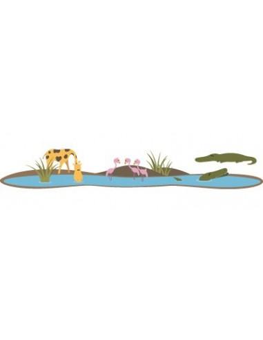 Stickers Jungle & Savane,Sticker enfant: Oasis des animaux