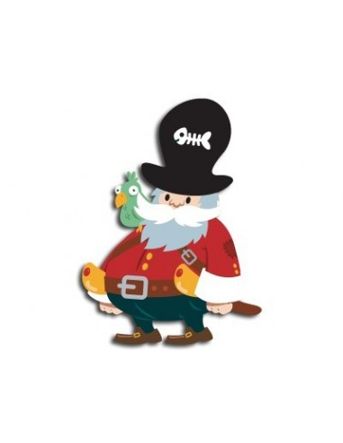 Stickers Pirates,Sticker garçon: Capitaine Pirate
