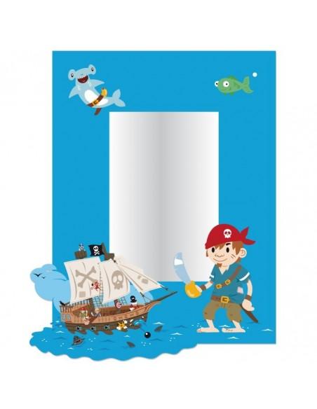 Miroir enfant,Miroir Enfant: Cadre Pirate
