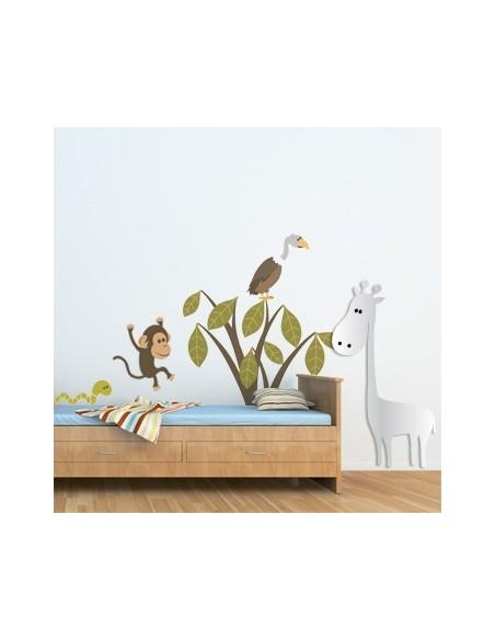 Miroir enfant,Miroir Enfant: Girafe de la Savane