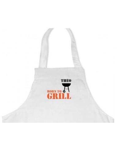 """Veste & Tablier personnalisé,Tablier """"Born to Grill"""""""