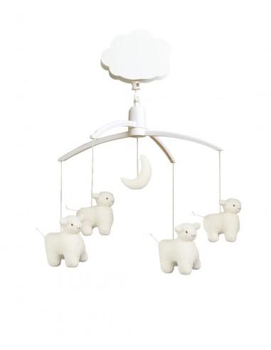 Mobile Bébé,Mobile Musical Moutons