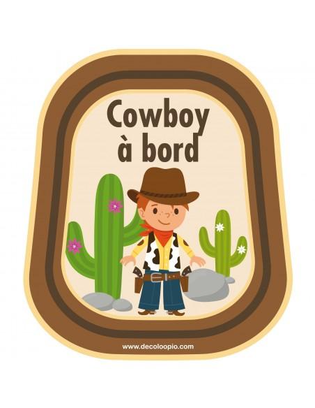 Stickers Bébé à Bord,Bébé à bord Cowboys
