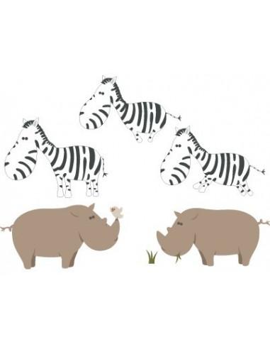 Stickers Jungle & Savane,Sticker savane: version Zébres