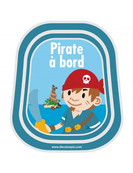 Stickers Bébé à Bord,Bébé à bord Pirate