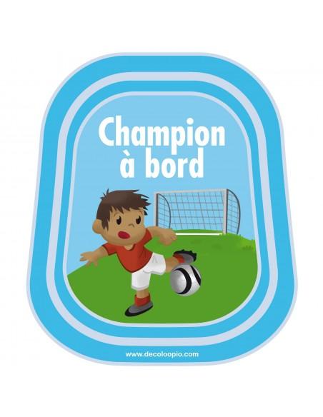 Stickers Bébé à Bord,Bébé à bord: Champion de Foot