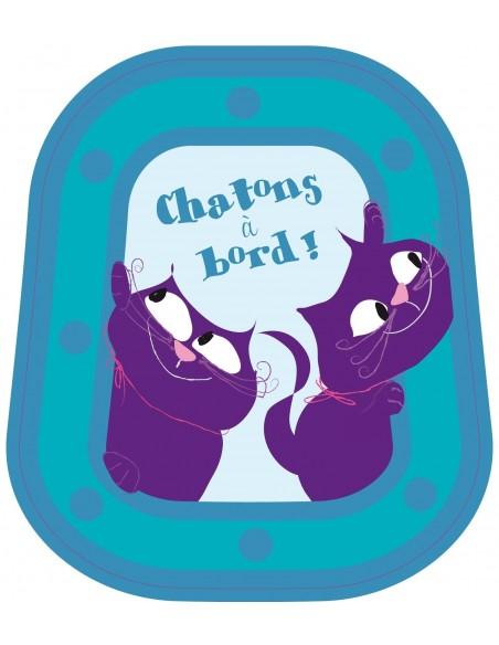 Stickers Bébé à Bord,Bébé à bord: Chatons Bleus