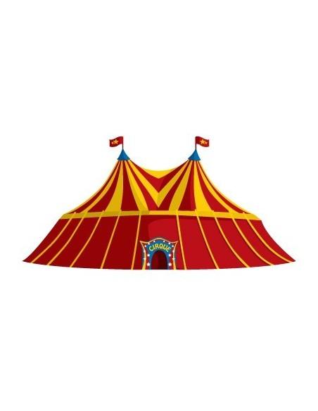 Stickers Cirque,Sticker mural: Chapiteau de cirque