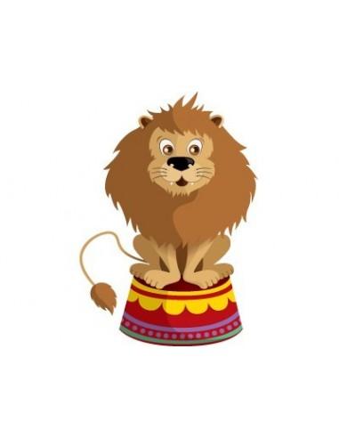 Stickers Cirque,Sticker mural: Lion Cirque Assis