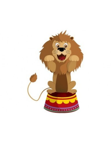 Stickers Cirque,Sticker mural: Lion Acrobate Cirque