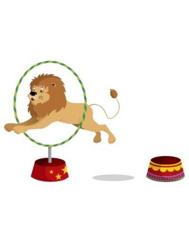 Stickers Cirque,Stickers muraux: Saut du Lion Cirque
