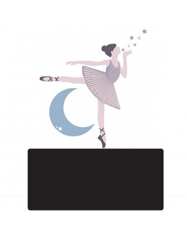 Sticker Ardoise,Enseigne de porte enfant: Danseuse