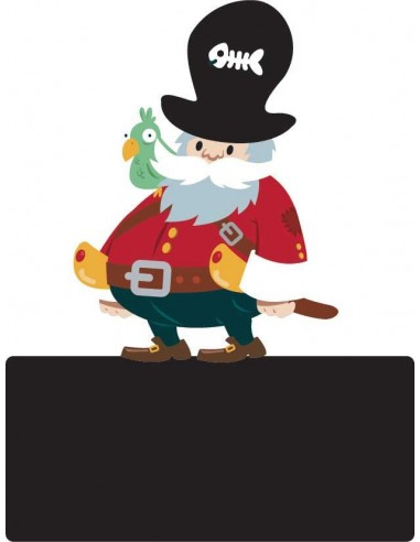 Sticker Ardoise,Enseigne de porte enfant: Pirate