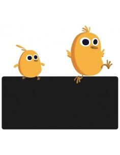 Sticker Ardoise,Enseigne de porte enfant: Poussins