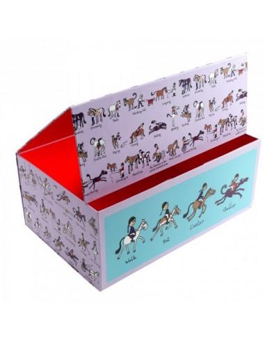 Boîtes & Paniers de rangement,Boîte de rangement Equitation