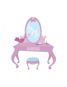 Stickers Fée & Princesse,Sticker Fille: Coiffeuse de Princesse