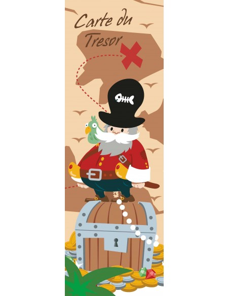 Tableaux Décoratifs,Tableau déco enfant: Pirate
