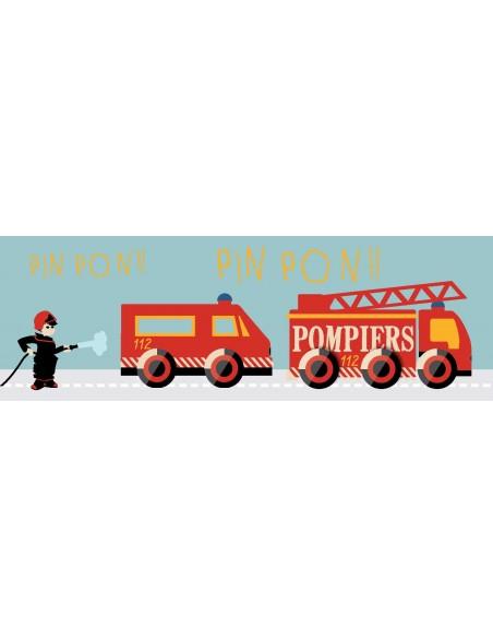 Tableaux Décoratifs,Tableau déco enfant: Camions pompiers
