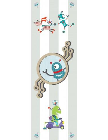 Tableaux Décoratifs,Tableau déco enfant: Robots animés