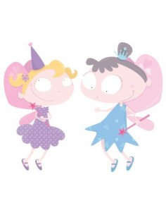 Stickers Fée & Princesse,Stickers déco murale: Les 2 fées
