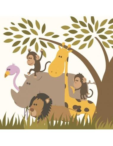 Tableaux Décoratifs,Tableau bébé: Animaux de la savane