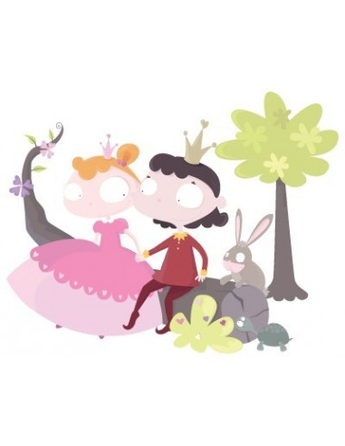 Stickers Fée & Princesse,Sticker Fille: Prince et Princesse sur