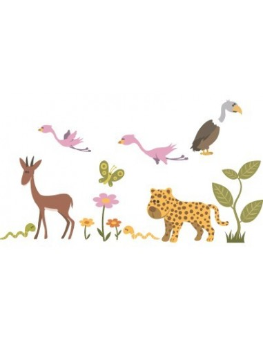 Stickers Jungle & Savane,Stickers enfants: Elements savane
