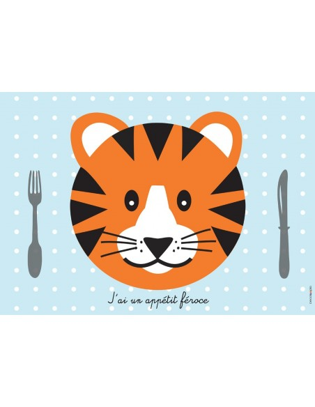 Set de table,Set De Table Enfant: Tigre