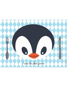 Set de table,Set De Table Enfant: Pingouin